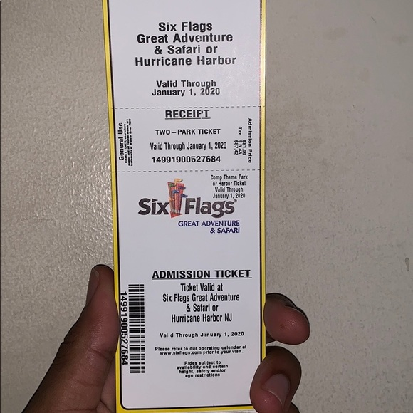 Other Six Flags Tickets Poshmark